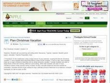 Plan Christmas Vacation Lesson Plan