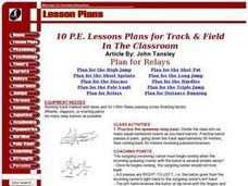 Plan For Relay Lesson Plan