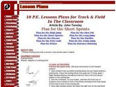 Plan For The High Jump Lesson Plan