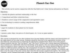 Planet-Tac-Toe Review Game Lesson Plan