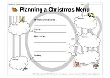 Planning a Christmas Menu-- Using Adjectives Worksheet