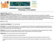 Planning a Government Lesson Plan