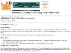 Planning a Healthy Menu Using the Food Pyramid Lesson Plan