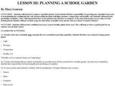 Planning A School Garden Lesson Plan
