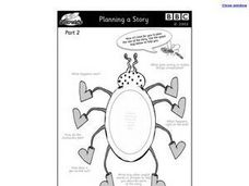 Planning a Story: Bug Graphic Organizer Worksheet