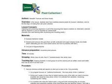 Plant Collection and Preservation Lesson Plan