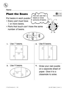 Plant the Beans Worksheet