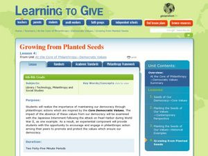 Planting Seeds of Philanthropy Lesson Plan