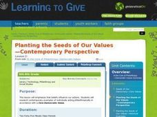 Planting the Seeds of Our Values:  Contemporary Perspectives Lesson Plan