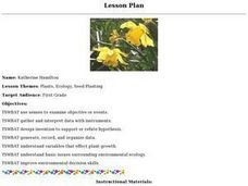 Plants, Ecology, Seed Planting Lesson Plan