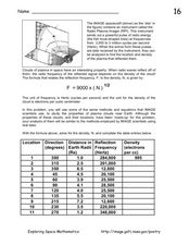 Plasma Clouds in Space and Density Worksheet