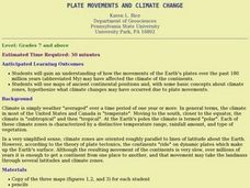PLATE MOVEMENTS AND CLIMATE CHANGE Lesson Plan