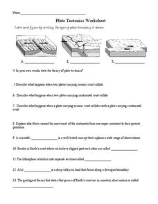 Plate Tectonics Worksheet Answers Worksheets For School - Kaessey