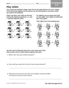 Play Colors enrichment 2.5 Worksheet
