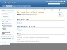 Play Music in a Rhythmic Manner Lesson Plan