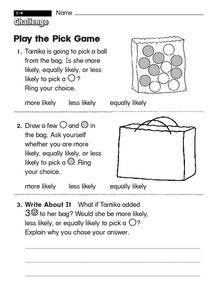 Play the Pick Game Worksheet