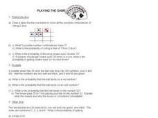 Playing The Game Worksheet