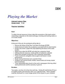 Playing the Market Lesson Plan