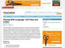 Playing with Language:  Tall Tales and Codes Lesson Plan