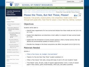 Please the Trees, But Not These, Please! Lesson Plan