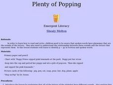 Plenty of Popping Lesson Plan