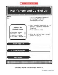 Plot and Conflict List Worksheet
