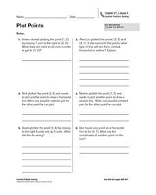 Plot Points Worksheet
