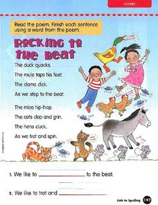 "Poem: ""Rocking to the Beat"" Worksheet"