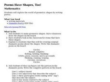 Poems Have Shapes, Too! Lesson Plan