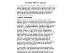 Poetry and Culture Lesson Plan