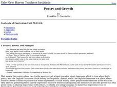 Poetry and Growth Lesson Plan