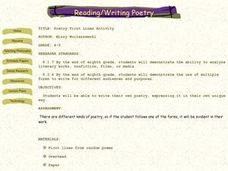 Poetry First Lines Activity Lesson Plan