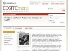 Poetry of The Great War: 'From Darkness to Light'? Lesson Plan