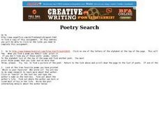 Poetry Search Lesson Plan