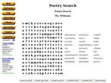 Poetry Search Worksheet
