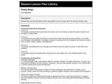 Poetry Sings Lesson Plan