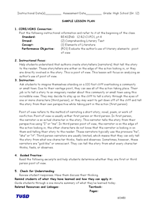 Point of View Practice Lesson Plan