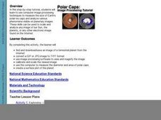 Polar Caps:  Image Processing Tutorial Lesson Plan