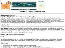 Political Issues and Opinions Lesson Plan