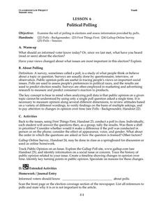Political Polling Lesson Plan