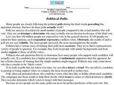 """Political Polls"" Worksheet"