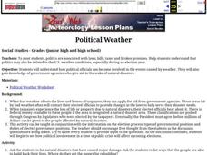 Political Weather Lesson Plan