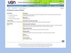 Pollution versus Plants Lesson Plan