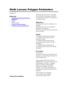 Polygon Perimeters Lesson Plan