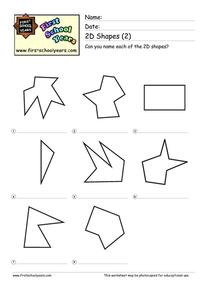 Polygon Shapes Worksheet
