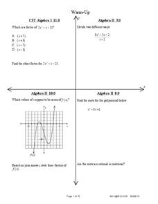Polynomial Division Lesson Plan
