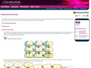 Polynomial Puzzler Lesson Plan