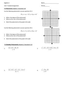 Polynomials and  Complex and Imaginary Numbers Review Worksheet