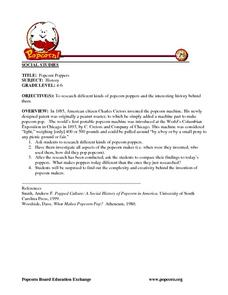 Popcorn Poppers Lesson Plan