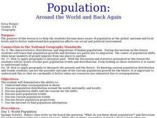 Population: Around the World and Back Again Lesson Plan